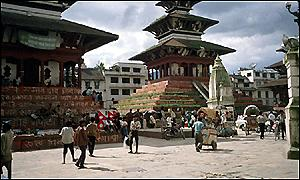 Durban Square at the centre of Kathmandu