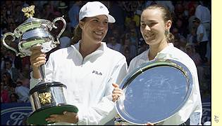 Jennifer Capriati and Martin Hingis