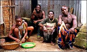 Family in the Niger Delta