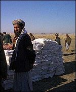 An Afghan man on the Tajik-Afghan border