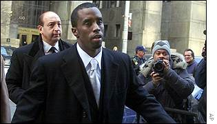 Sean Combs arriving at court
