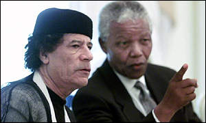 Mandela and Gaddafi