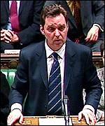 Alan Milburn makes his statement in the Commons