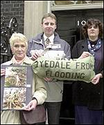 Campaigners Marie Stewart, Paul Tate-Smith, and Di Keal from North Yorkshire