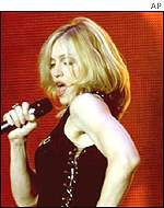 Madonna at the 2000 MTV Europe Music Awards in Stockholm