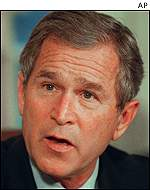 George W Bush intends to tackle economic slowing