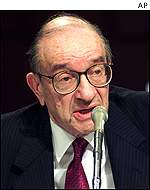 Alan Greenspan testified before congress that US growth was near zero
