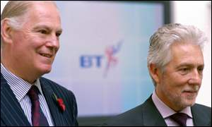 sir ian vallance and sir peter bonfield of BT