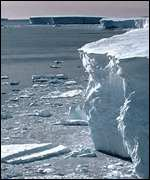 Ice cliff Bas