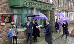 Prince Charles visited Coronation Street in December