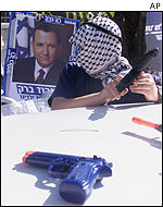 Right-wing Israeli activists demonstrating