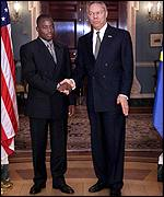 Presient Kabila meets US Secretary of State Colin Powell