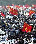 [ image: The mass demonstrations by students in 1989]