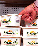 [ image: The Fund was criticised for allowing Diana's signature on tubs of margarine]