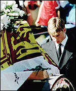 [ image: Prince William following his mother's coffin]