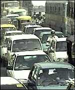 [ image: Bombay's roads have to cope with 5m commuters a day]