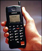 [ image: Nokia says molbile phone use will more than double by 2000]