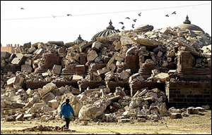 Indian earthquake aftermath AFP