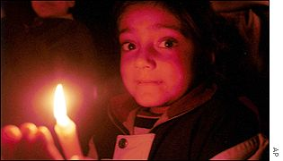 5-year-old Shikha during a memorial procession in  Chandigarh, northern India
