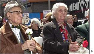 Survivors meeting on the 85th anniversary of the alleged genocide, New York