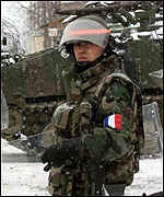 French K-For soldier