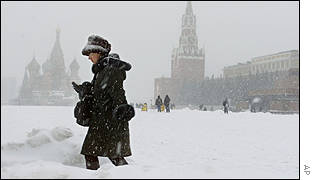 Moscow has been hit by unusually heavy snowfalls