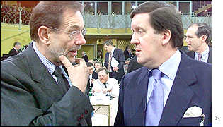 Javier Solana and Lord Robertson