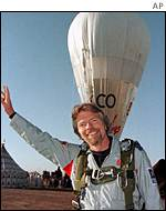 Sir Richard Branson and a balloon