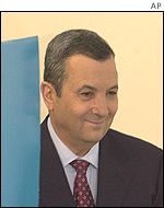 Ehud Barak after voting