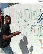 Anti-Aristide protestor