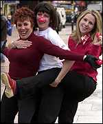 Ruby Wax, Emma Freud and Sally Phillips