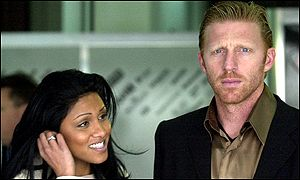 Sabrina Setler and Boris Becker
