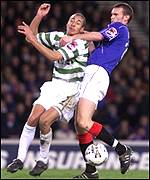 A penalty is given as Wilson and Larsson clash