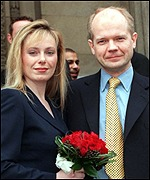 Hague paid tribute to his own marriage