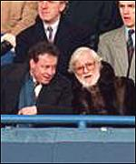 Matthew Harding (left), who died in a helicopter crash in 1996, and Ken Bates
