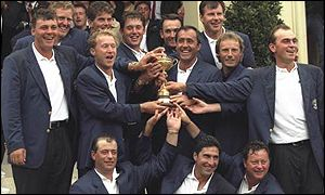 Europe celebrate after retaining the trophy