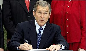 President Bush signing tax relief plan