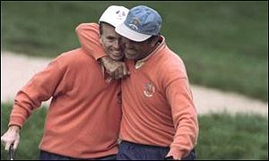 David Gilford and his new best mate Seve Ballesteros