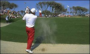 Steve Richardson plays out of a bunker