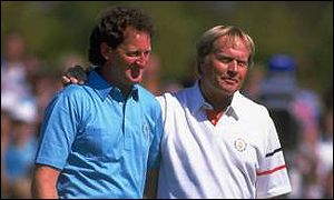 Nicklaus congratulates European hero Eamonn Darcy