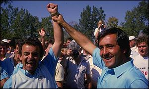 Ballesteros salutes the talisman Jacklin