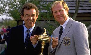 Friendly rivals - Tony Jacklin and Jack Nicklaus