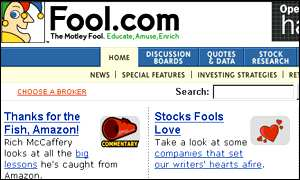 Motley Fool homepage