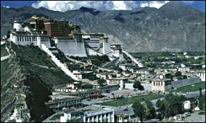 The Tibetan capital of Lhasa