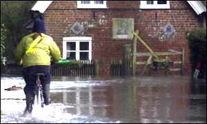 Flooding in Patrixbourne, Kent