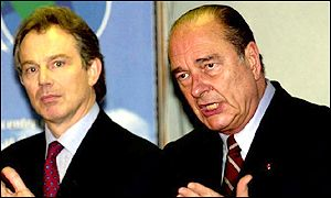 Tony Blair and Jacques Chirac