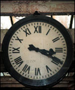 Carnforth railway station clock
