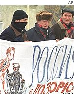 Anti-Kuchma protesters