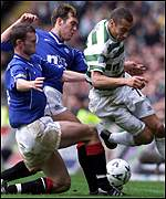 Wilson and Ricksen shackle Larsson