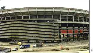 The way it was: The stadium was seen as an eyesore